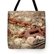 A Rusty Chain And Hook Tote Bag
