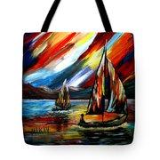 A Sailing Prism Tote Bag