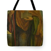 A Saint With A Fortress And A Banner Tote Bag