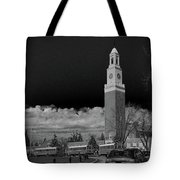 A School's Clock Tower Tote Bag
