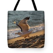 A Seagull Starts His Flight Tote Bag