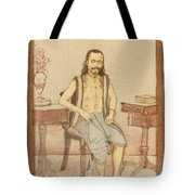 A Seated Indian Priest With English Furniture Tote Bag