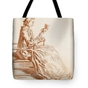 A Seated Woman Tote Bag