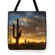 A Serene Sunset In The Sonoran Desert  Tote Bag