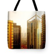 A Shanghai Sunset Tote Bag by Christine Till