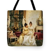 A Shared Confidence Tote Bag by Joseph Frederick Charles Soulacroix