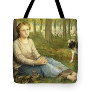 A Shepherdess And Her Flock Tote Bag