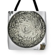 A Shield In Iron And Guns Tote Bag