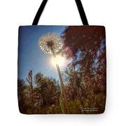 A Shiny Flower Day Tote Bag by Stwayne Keubrick