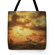 A Shipwreck By The Rocks Tote Bag