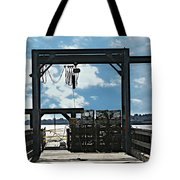 A Short Pier In Portsmouth Nh Tote Bag