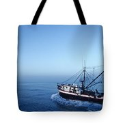 A Shrimp Boat In The Gulf Of Mexico Tote Bag