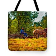 A Simpler Time Impasto Tote Bag