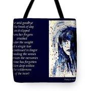 A Single Tear - Poetry In Art Tote Bag