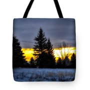 A Sleepy Morning Sunrise Tote Bag