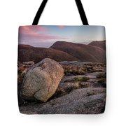 A Slievenaglogh Rock In Fading Golden Light  Tote Bag