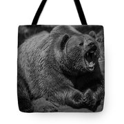 A Slightly Upset Grizzly Bear Tote Bag