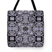 A Sliver Of Silver Abstract Tote Bag