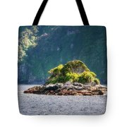 A Small Rocky Island At Doubtful Sound Tote Bag