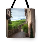 A  Small Side Street In Riquewihr Tote Bag