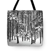 A Snowy Day Bw Tote Bag