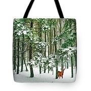 A Snowy Day Tote Bag