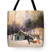 A Snowy Monday Tote Bag
