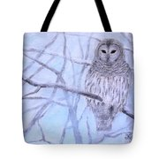 A Barred Owl Tote Bag