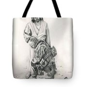 A Soldier's Prayer Tote Bag by Linda Bissett