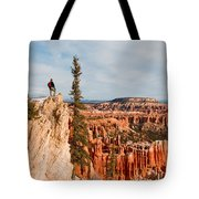 A Solitary Hiker Looks Tote Bag