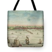 A South East View Of The Great Town Of Boston In New England In America, 1730 Tote Bag