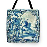 A South-german Faience Stove Tile Second Half 18th Century, By Adam Asar, No 18a Tote Bag