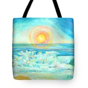 A Splash Of Dawn Tote Bag