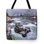 A Spokane Falls Winter Tote Bag