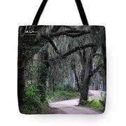 A Spooky Road Tote Bag