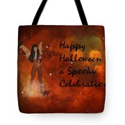 A Spooky, Space Halloween Card Tote Bag