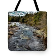 A Spring Day At Little Woodhull Creek Tote Bag