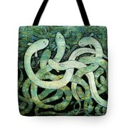 A Squirm Of Eels At The Bottom Of The Pond Tote Bag