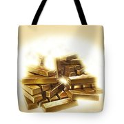 A Stack Of Gold Bullion  Tote Bag