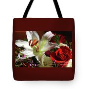 A Star Lily With  A Rose Tote Bag