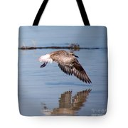 A Startled Sanderling By Darrell Hutto Tote Bag
