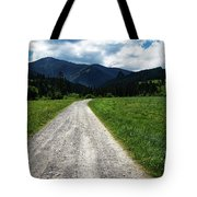 A Stone Path Through The Countryside Into The Forest Tote Bag