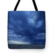 A Storm Brews On The Horizon Tote Bag