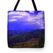 A Storm Coming In  Tote Bag