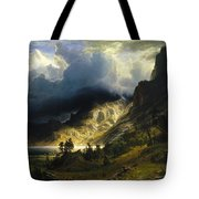 A Storm In The Rocky Mountains Mt. Rosalie, 1866 Tote Bag