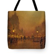 A Street At Night Tote Bag