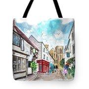 A Street In Ripon Tote Bag