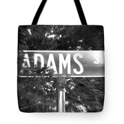 Ad - A Street Sign Named Adams Tote Bag