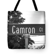 Ca - A Street Sign Named Camron Tote Bag