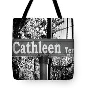 Ca - A Street Sign Named Cathleen Tote Bag